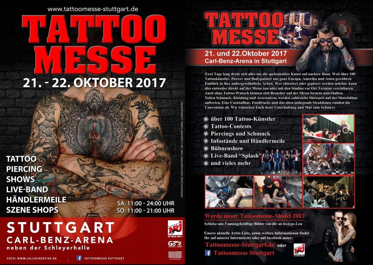 Tattoomesse Stuttgart Flyer